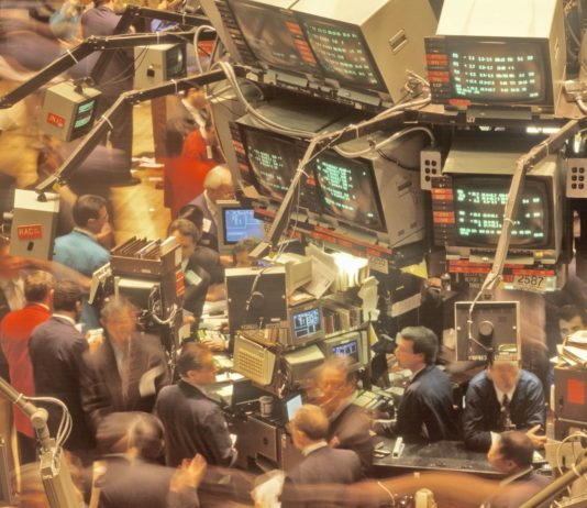dow jones, new york stock exchange, wall street, new york city, ny